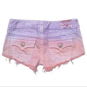 True Religion cut off short shorts size 28